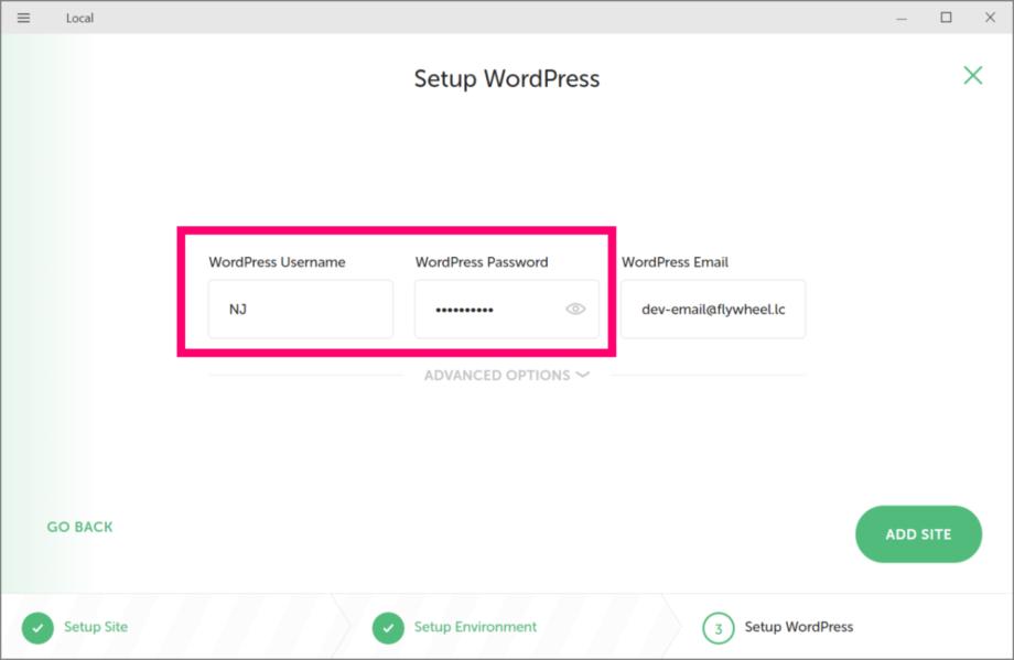 WordPressログインユーザー情報の設定