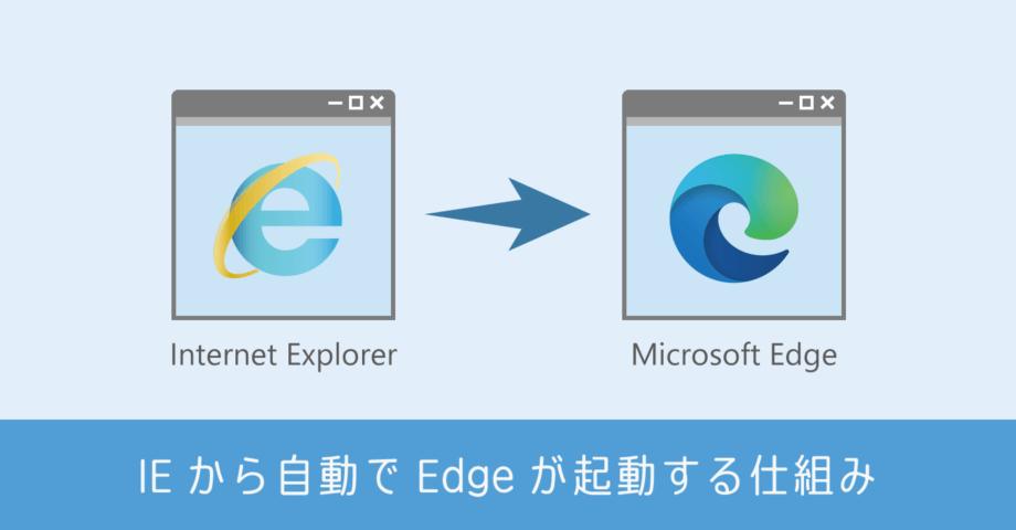 IE から自動的に Edge が起動する仕組み。実装はできないが依頼はできる?!